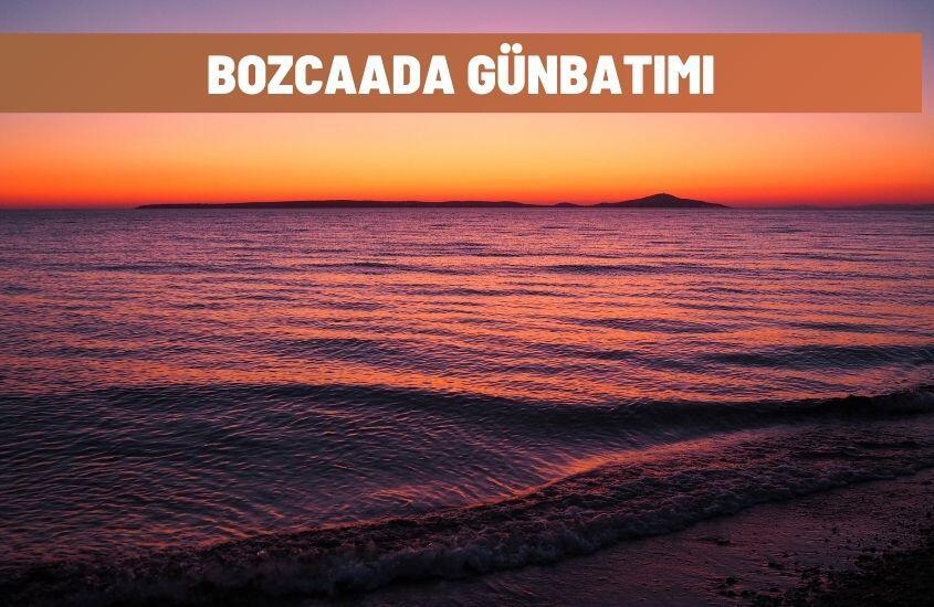 Bozcaada'da Günbatımı