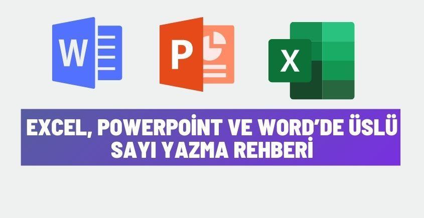 excel word powerpoint uslu sayi yazma