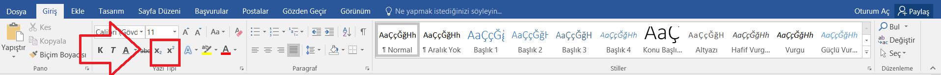 bilgisayarda uslu sayi yazma 3